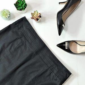 Loft | Black Classic A-line Skirt